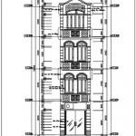 Bản vẽ thiết kế nhà ống diện tích 3.2 x 16.87 mét