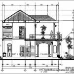 Nhà hình thang vuông 2 tầng diện tích 6.9×15