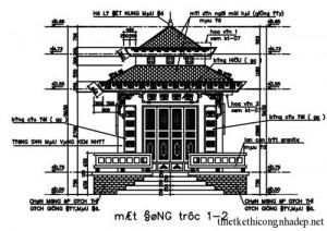 Bản vẽ nhà thờ gia tộc họ Nguyễn tại Ninh Bình