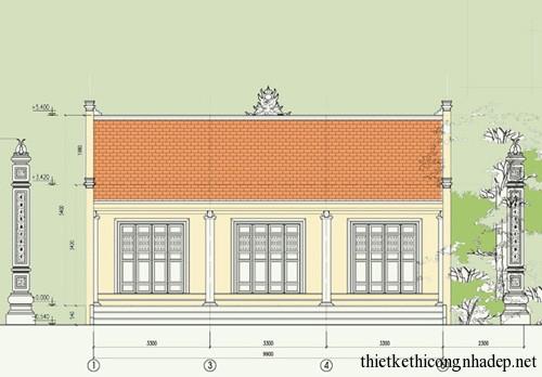Bản vẽ thiết kế chi tiết nhà thờ tổ họ Vũ Ninh Bình