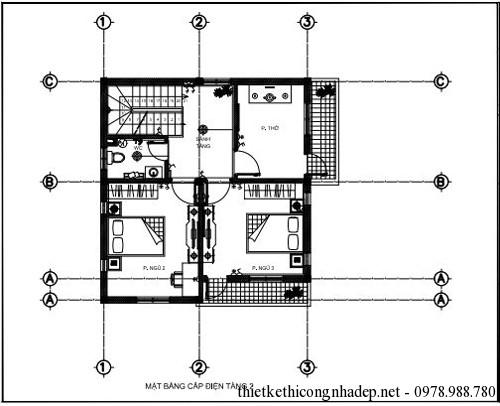 Mặt bằng nhà và mặt bằng ban công