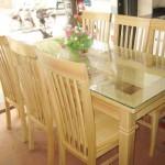 Mẫu bàn ghế gỗ tự nhiên phòng ăn đẹp hiện đại