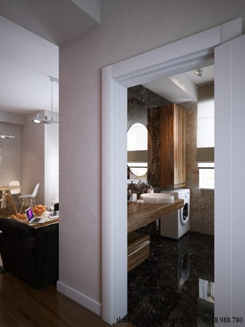 Phòng tắm được thiết kế rộng rãi