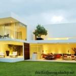 Thiết kế kiến trúc và nội thất căn hộ hình chữ U 2 tầng