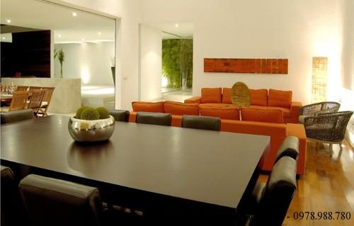 Thiết kế nội thất căn hộ hình chữ U 2 tầng