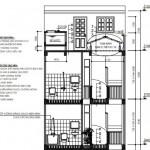 Bản vẽ thiết kế nhà ống 4 tầng hiện đại diện tích 4.5 x 14