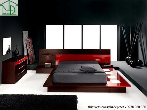 Các mẫu giường ngủ bằng gỗ hiện đại giá rẻ