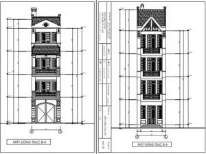 Thiết kế nhà phố 4 tầng mái thái kiểu dáng cổ điển 4.1 x 16.9