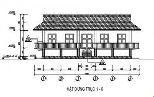 Thiết kế nhà sàn ăn uống 2 tầng hiện đại sang trọng