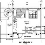 Bản vẽ thiết kế nhà lô phố 3 tầng diện tích 30 m2