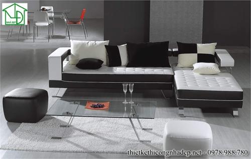 Sofa góc phòng khách cách điệu