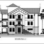 Mẫu thiết kế biệt thự nhà phố 3 tầng diện tích 19 x 16 mét