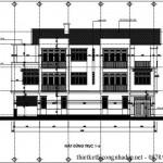 Bản vẽ thiết kế nhà phố 3 tầng hiện đại diện tích 6 x 21