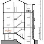 Mẫu thiết kế nhà phố 4 tầng có gác xép hiện đại