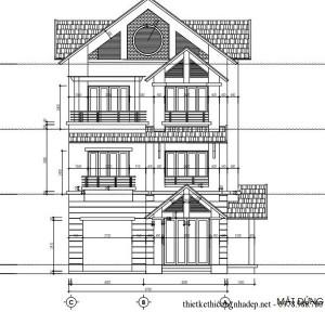 Thiết kế biệt thự 3 tầng 2 mặt tiền hiện đại
