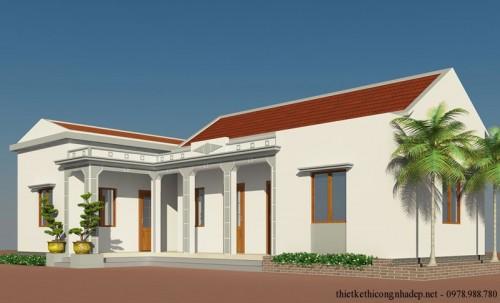 Bản vẽ cải tạo nhà ở cấp 4 nông thôn đẹp hiện đại