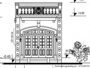 Bản vẽ thiết kế nhà cấp 4 lợp mái tôn chống nóng
