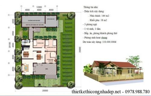 Dự toán xây dựng nhà cấp 4 số 4