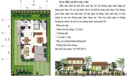 Dự toán xây dựng nhà cấp 4 số 2