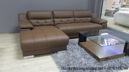 Bàn ghế sofa da thật tại Hà Nội