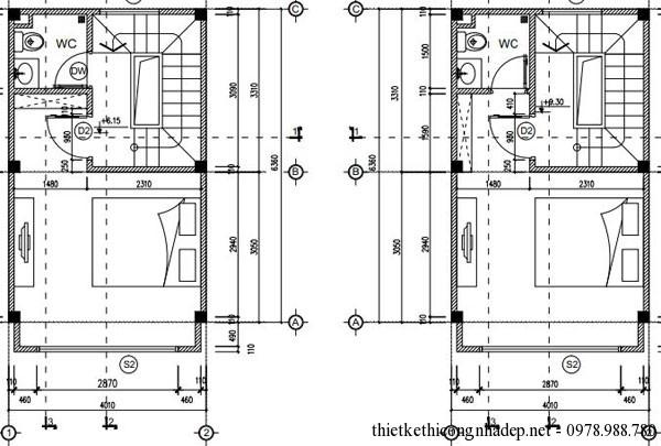Mặt bằng tầng 3 và tầng 4