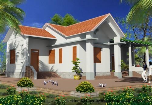 Mẫu thiết kế nhà cấp 4 nông thôn hiện đại năm 2014