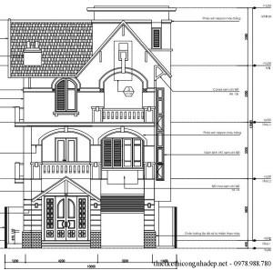 Thiết kế biệt thự 3 tầng đẹp hiện đại 10.4 x 10