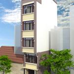 Thiết kế nhà phố 5 tầng có mặt tiền 3.7 mét