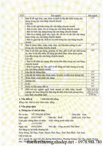 giấy đăng ký kinh doanh