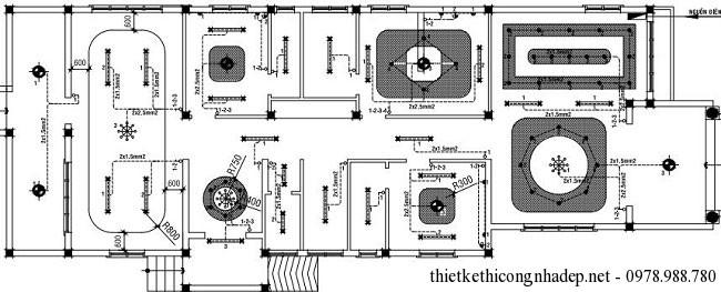 Mặt bằng cấp điện nhà cấp 4