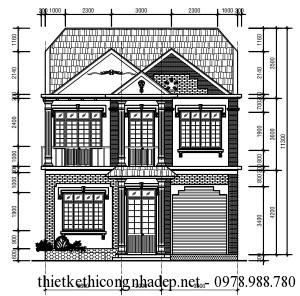 Tư vấn thiết kế biệt thự hiện đại 2 tầng mái thái 9.6x17m