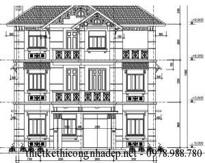 Thiết kế biệt thự gia đình 3 tầng hiện đại