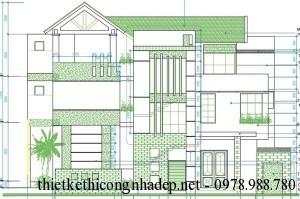 Mẫu biệt thự 3 tầng hiện đại chữ L 7.9 x 13.3 mét