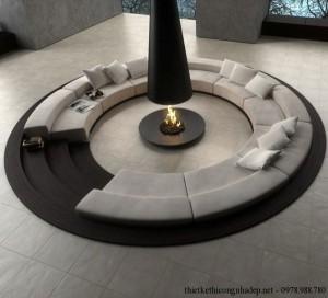 Mẫu thiết kế ghế sofa phòng khách đẹp hiện đại