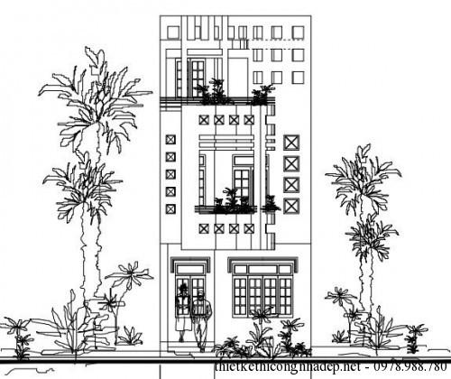 mặt tiền nhà phố 3 tầng diện tích 5x14m