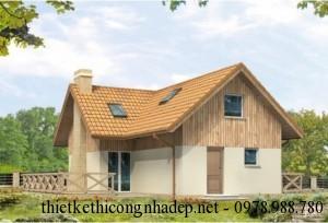 Mẫu nhà 2 tầng mái thái phong cách của Châu Âu