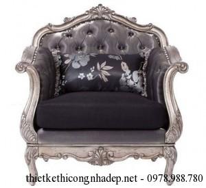 Bàn ghế sofa cổ điển gia đình cao cấp