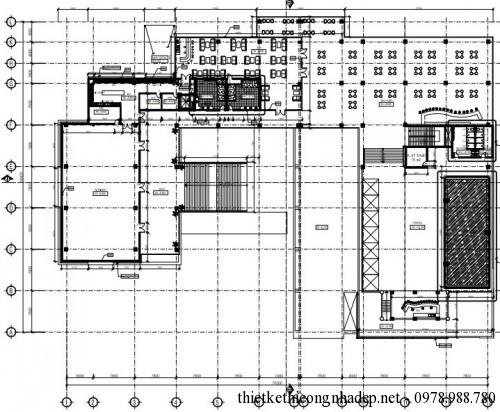 mặt bằng tầng 3 club house