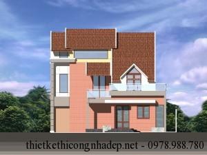 Mẫu thiết kế nhà biệt thự 2 tầng đẹp hiện đại 8×12.5m