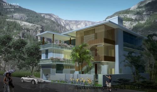 Mẫu biệt thự Villas 3 tầng phong cách hiện đại Villa A