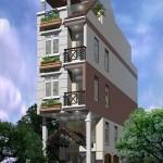 Thiết kế nhà phố 4 tầng đẹp kết hợp kinh doanh cafe