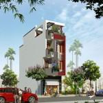 Bản vẽ thiết kế thi công và nội thất nhà phố 4 tầng 4x16m