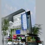 Bản vẽ cải tạo nhà phố 4 tầng thành quán cafe