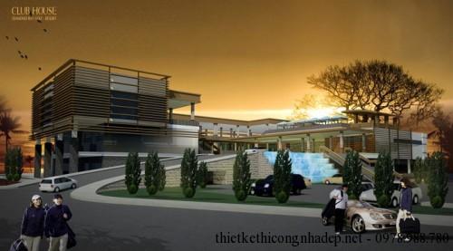 Biệt thự Villa 3 tầng câu lạc bộ Golf Club House