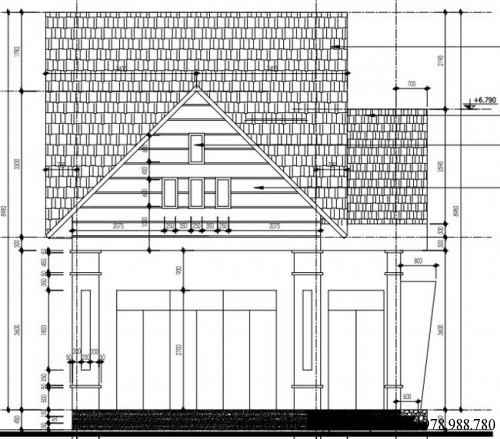 Mẫu nhà cấp 4 mái ngói, mái thái đẹp 7.2x18m
