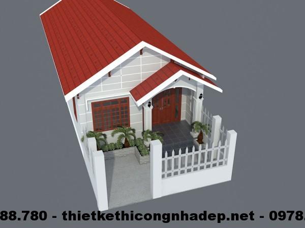 Bản vẽ thiết kế mẫu nhà cấp 4 mái tôn 6x15m diện tích 90m2