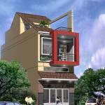 Thiết kế nhà phố 2 tầng 1 lửng 5x20m đẹp hiện đại
