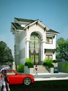 Mẫu thiết kế nhà phố để ở kết hợp kinh doanh đẹp 12x21m