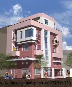 Bản vẽ cad mẫu thiết kế nhà phố 2 mặt tiền đẹp