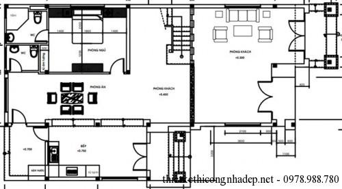 mat bang tang 16 500x276 Mẫu biệt thự 2 tầng mái thái hiện đại